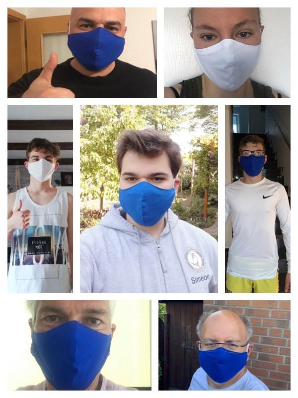 Es gilt die Maskenpflicht – Judoka zeigen Maske!